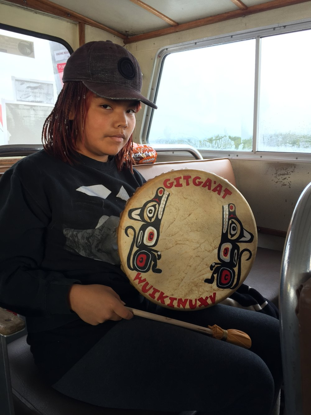 Hailey brought her hand painted drum!