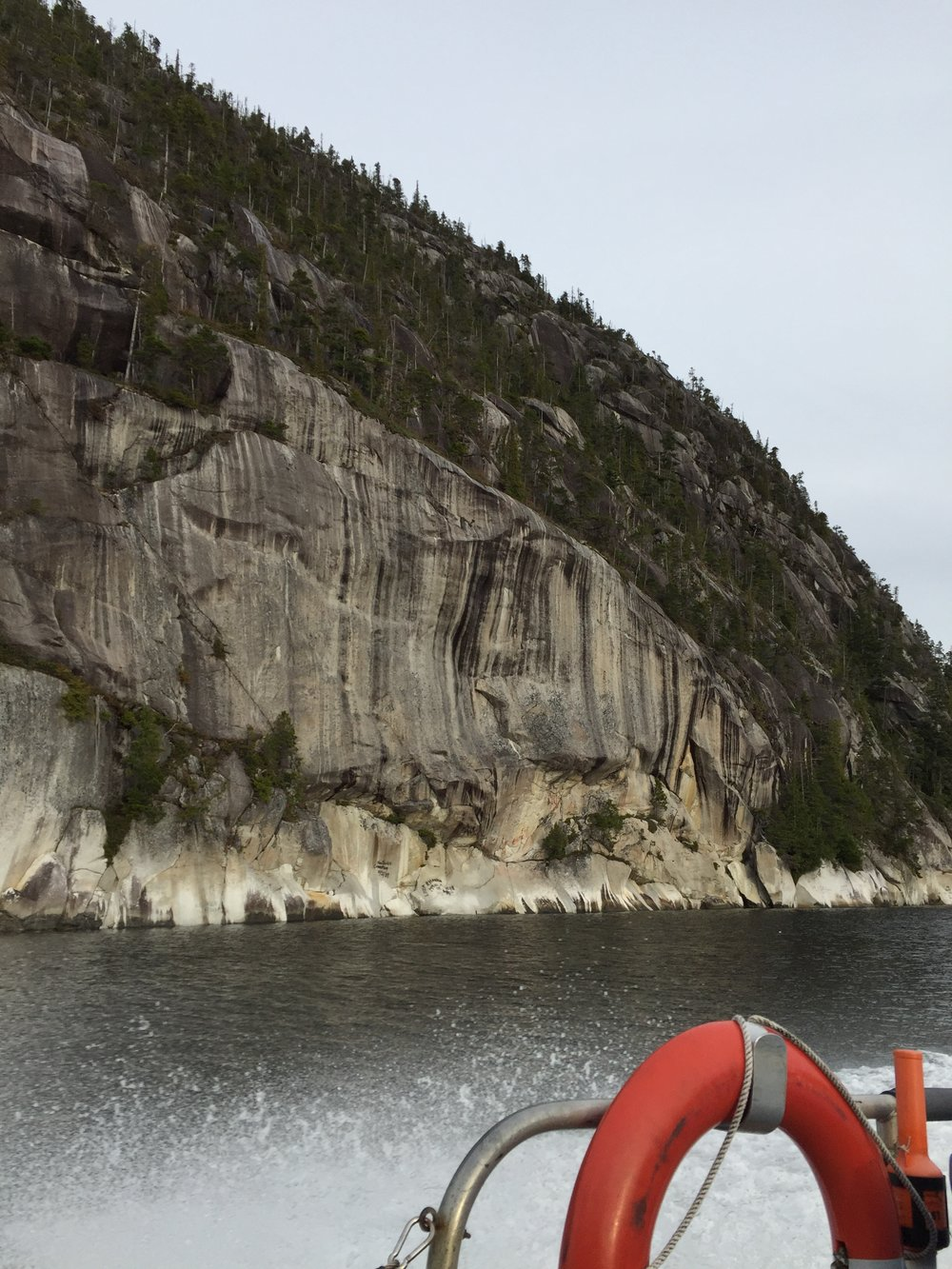 The cliffs are stunning walls of rock