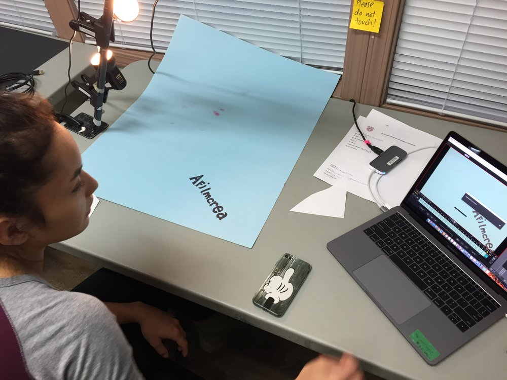 Bella jumps right into animating the end credits