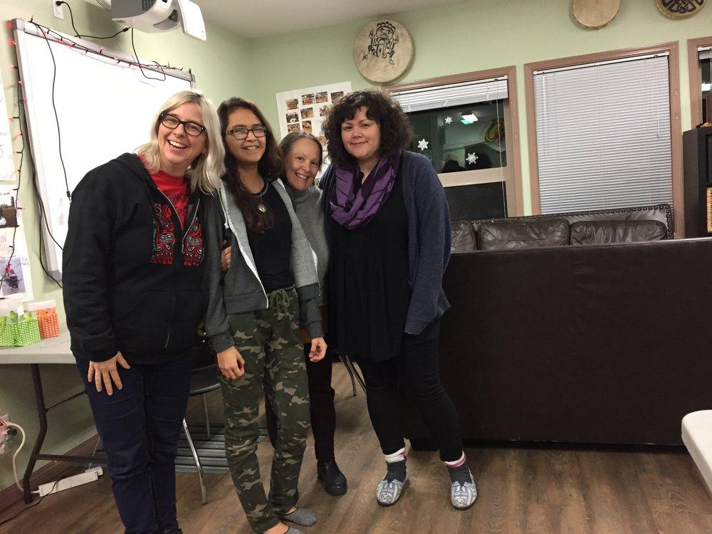 Lisa g, Elle, Tracy and Lisa W - celebrating Elle's hard work!