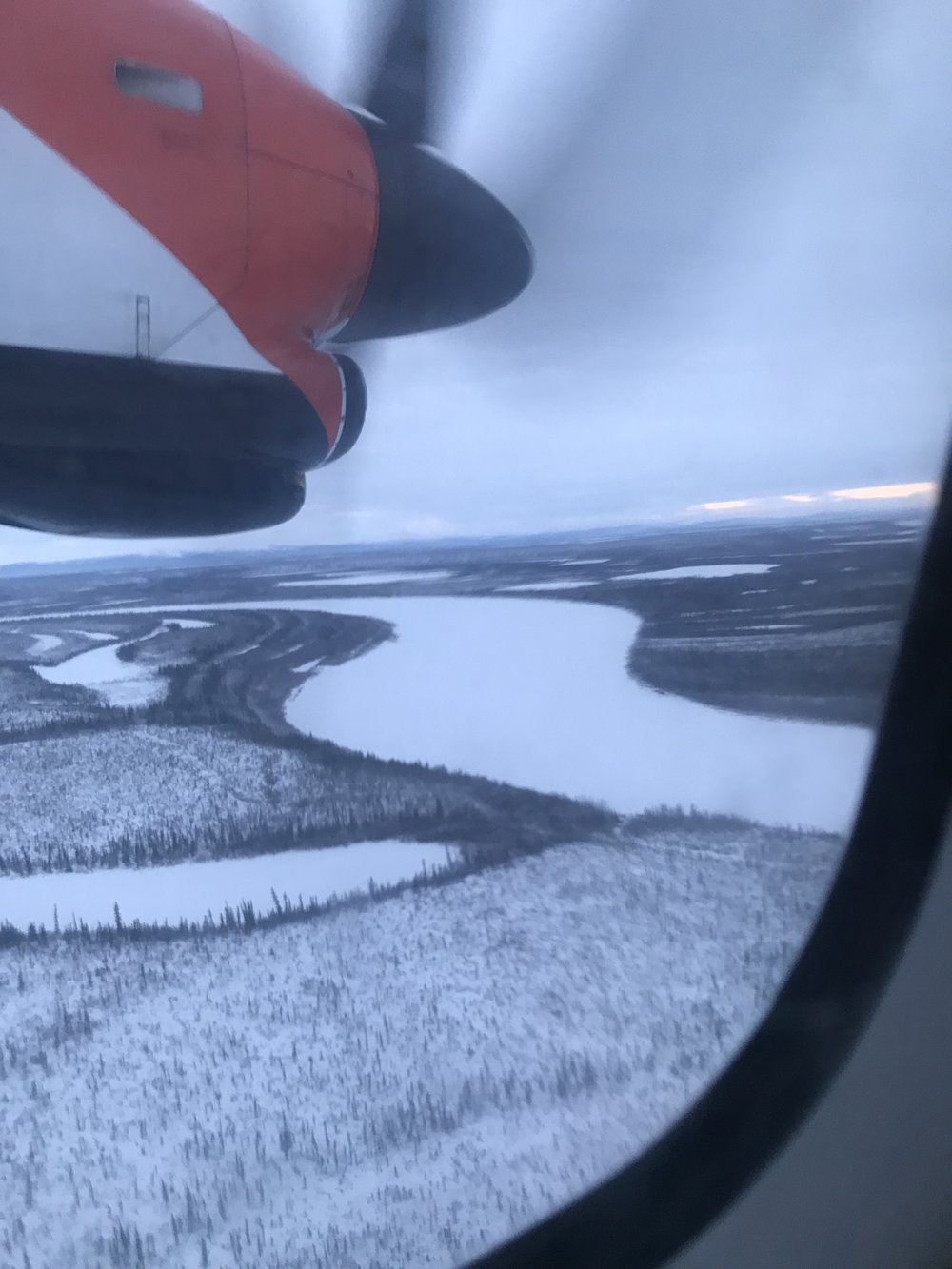 The Porcupine River welcomes us into Old Crow