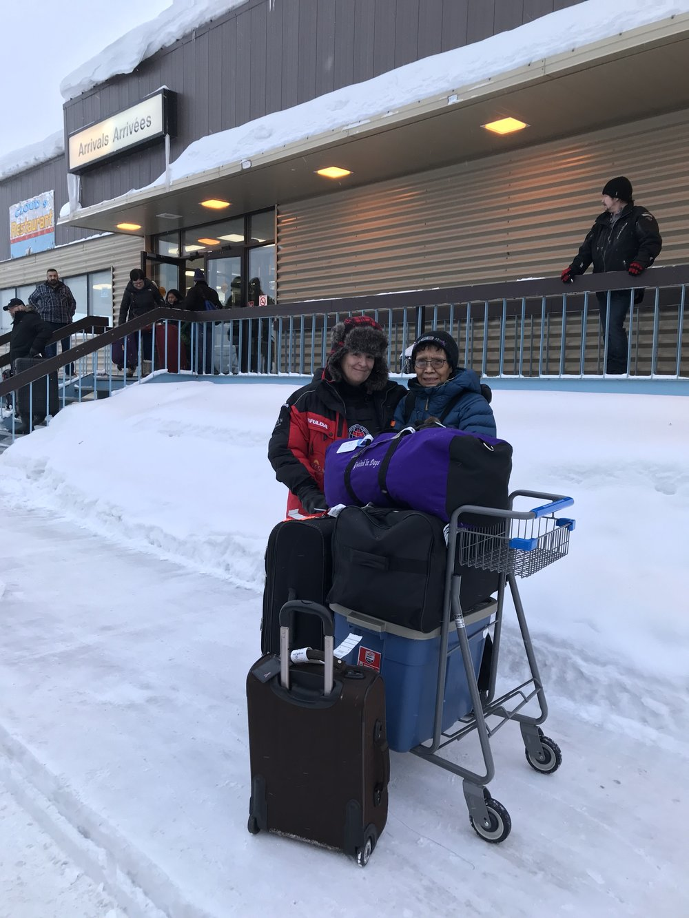 Mary Jane and Tracy…happy to be in Inuvik