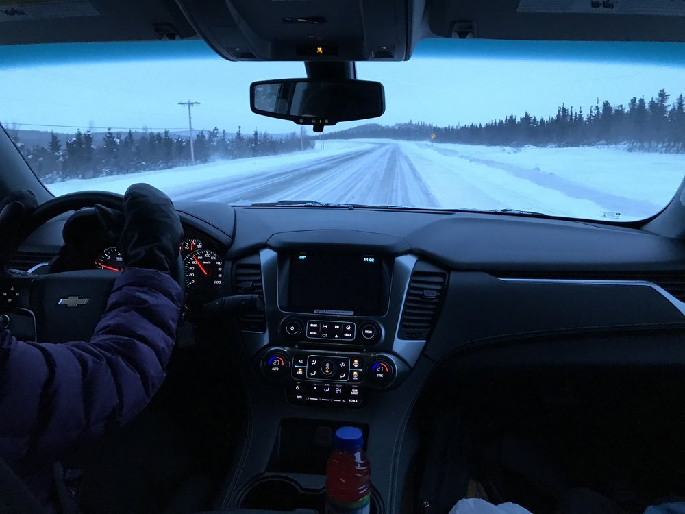 Mitts on hand, we hit the Dempster Highway at 11am sharp!