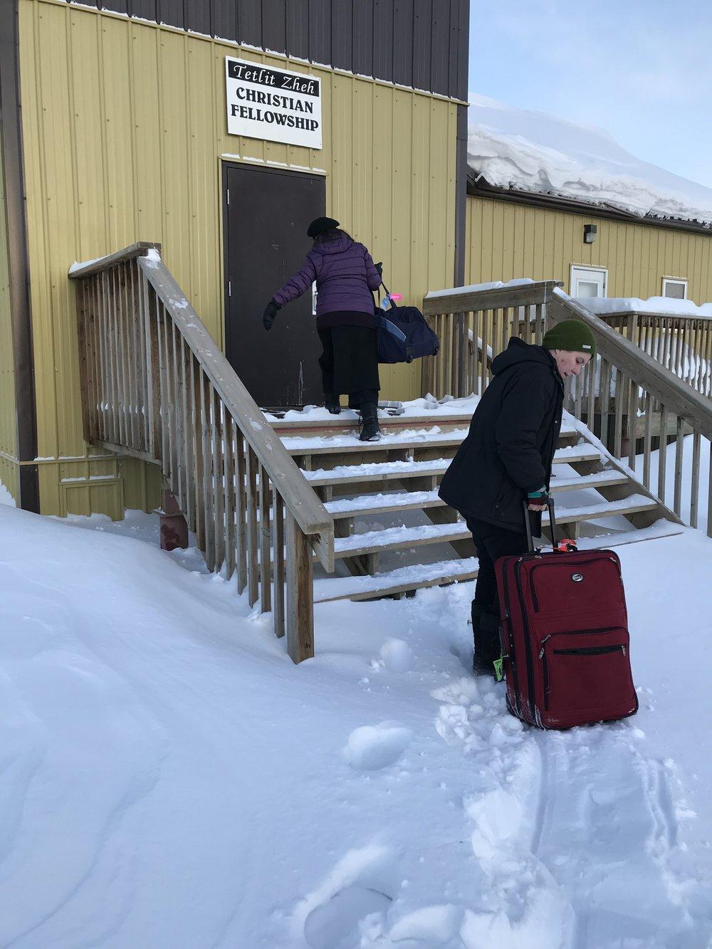 Moving gear into the Christian Fellowship Church