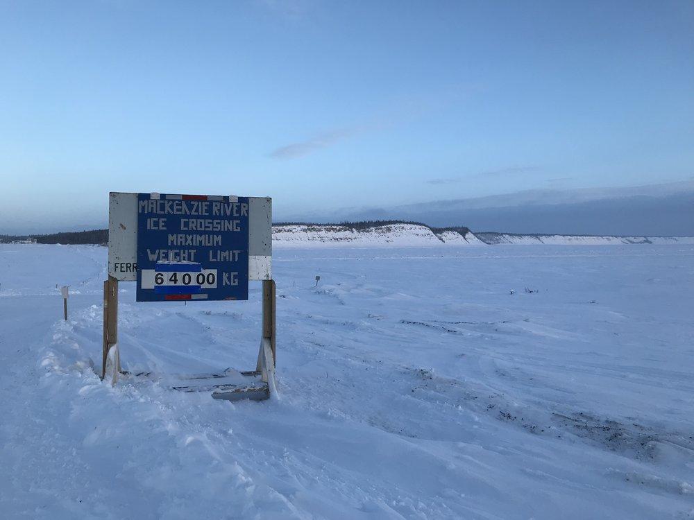 Mackenzie River ice bridge!!!