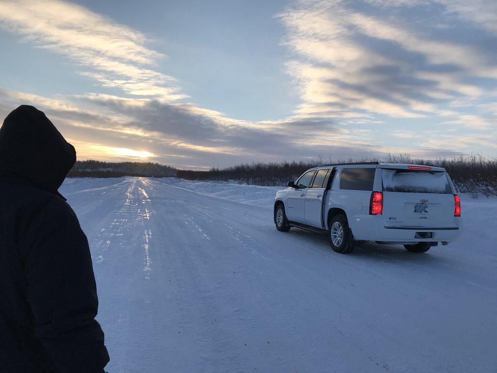 It's feeling like 40 below, so we run back to the car!