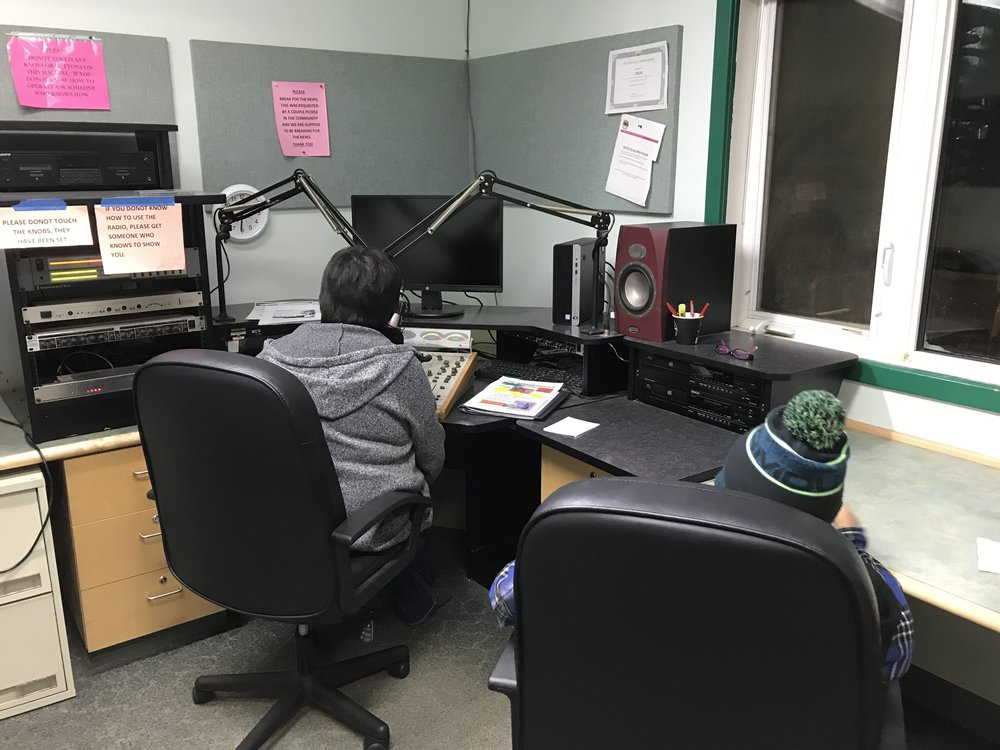 Ruby on the air, making Our World announcement
