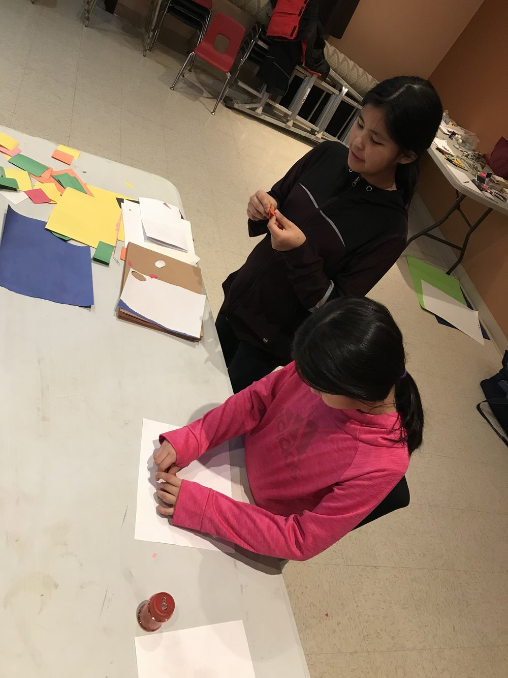 Alexis and Aaliyah create characters to animate