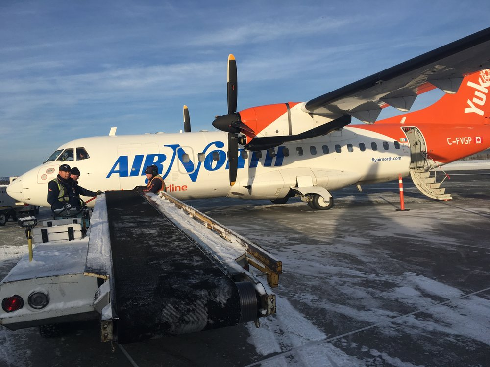 Tracy and Cheryl fly to Inuvik from Vancouver…