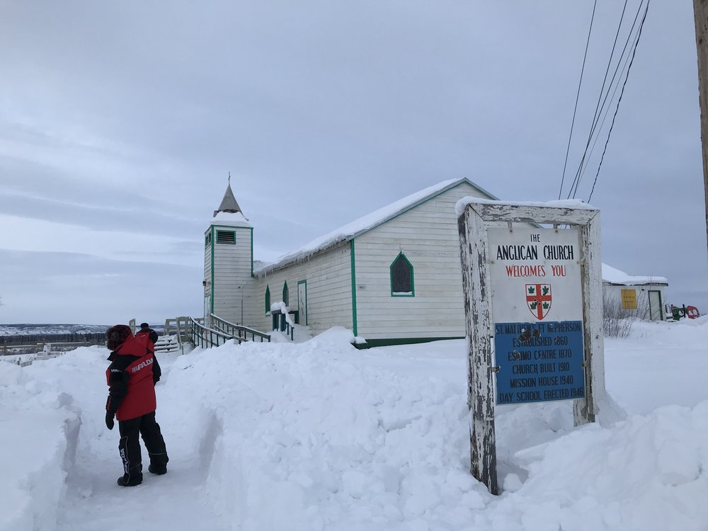 Google Fort McPherson Anglican Church and this is what you see.