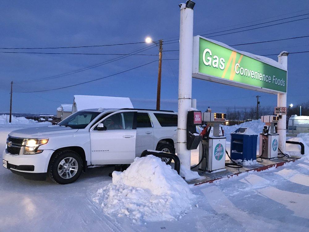 Even the gas tank freezes shut!