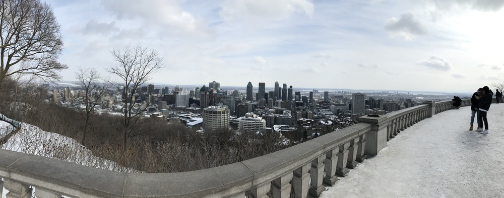 The view of the city
