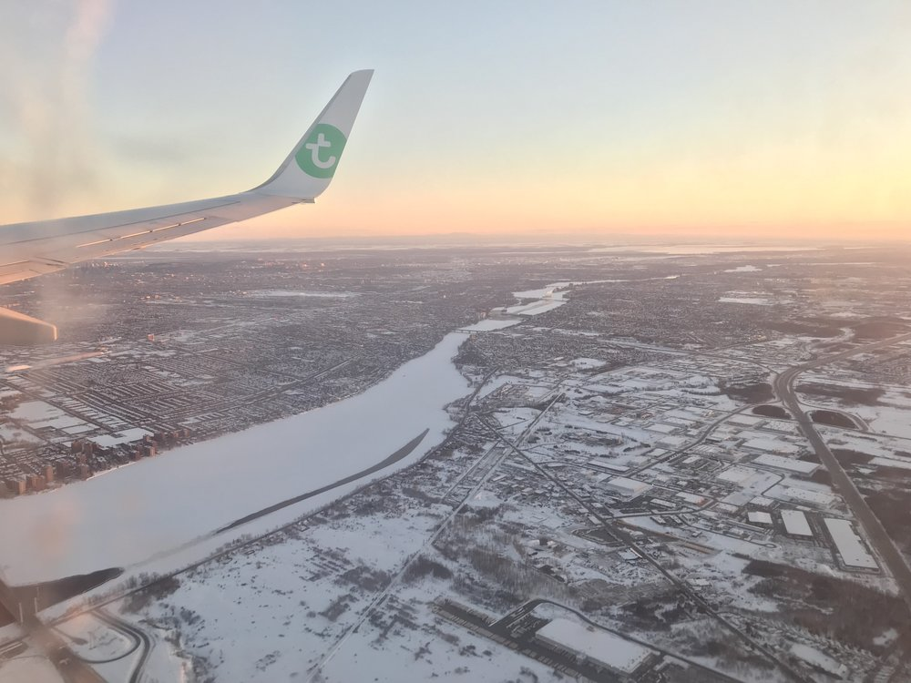 Arriving into Montreal