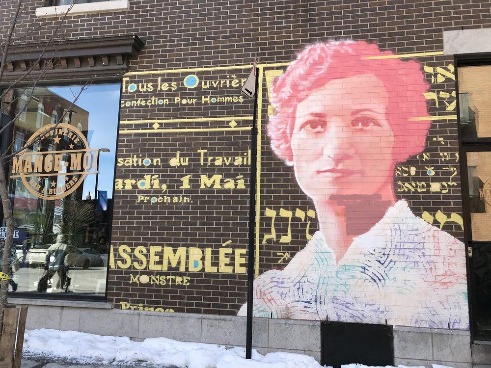 The graffiti in Montreal is beautiful