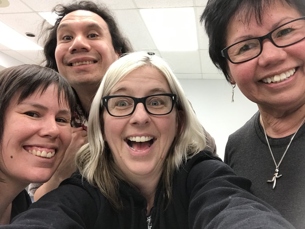 A great team, Courtney, Jesse, Lisa & Marlene! Congrats to Marlene for finishing her film!
