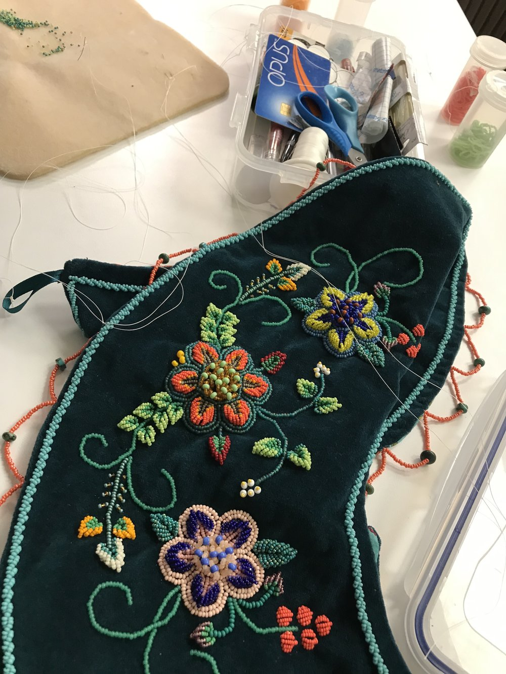 This is a beautiful beaded yoke that Brooke made!