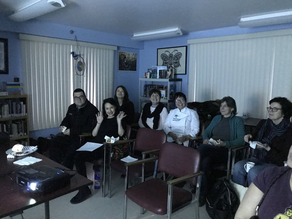 A happy audience: Bronson, Joy, Michelle, Morgan, Marlene, Reisa and Laura