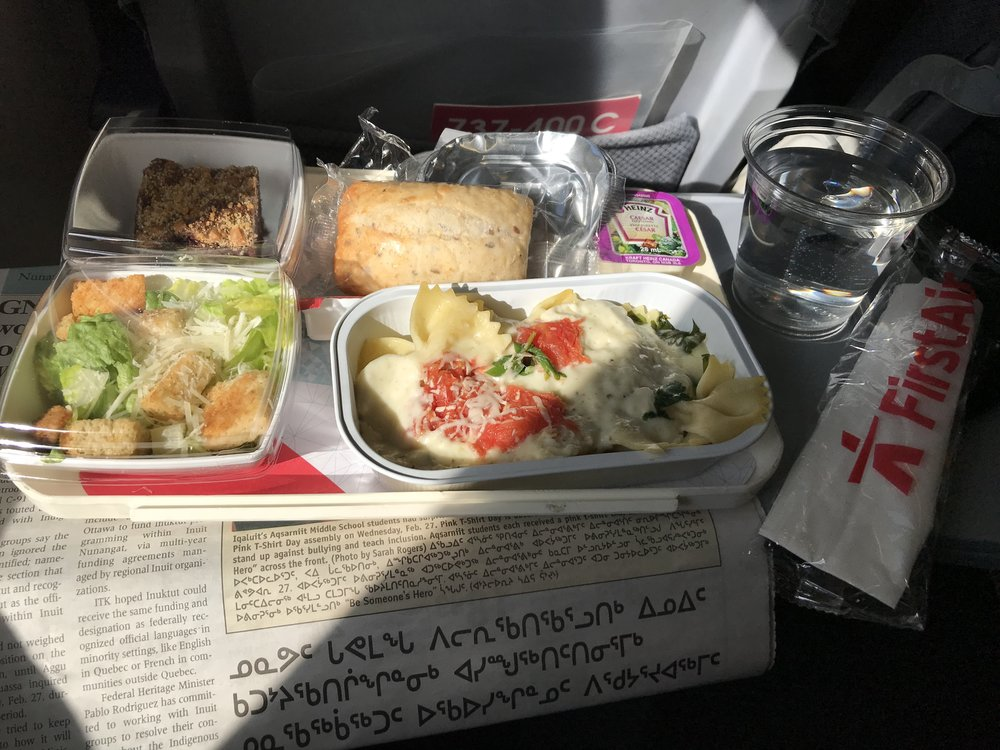 First Air serves a FREE lunch!