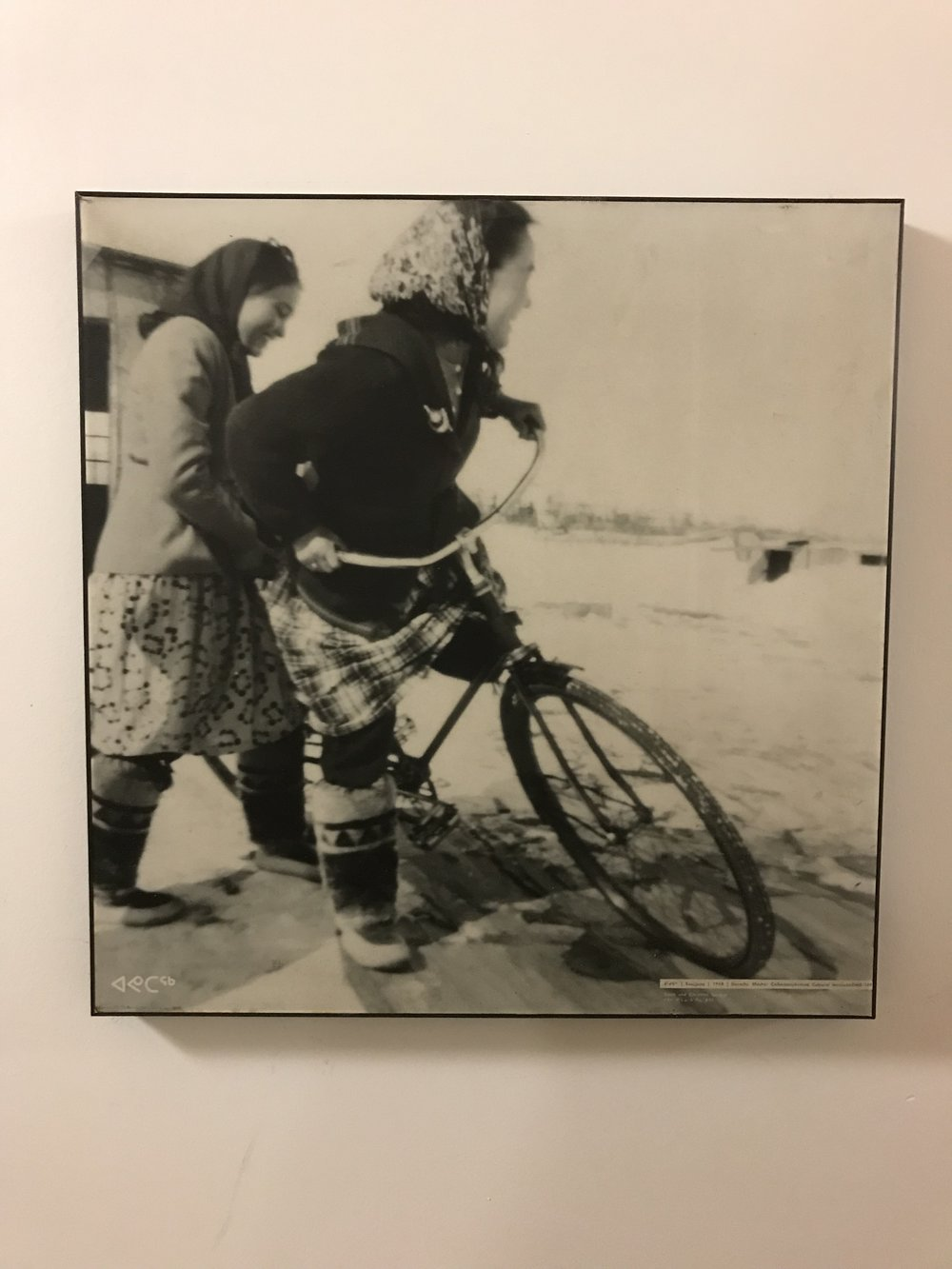 Dorothy Mesher (Inuit Author) on a bike!