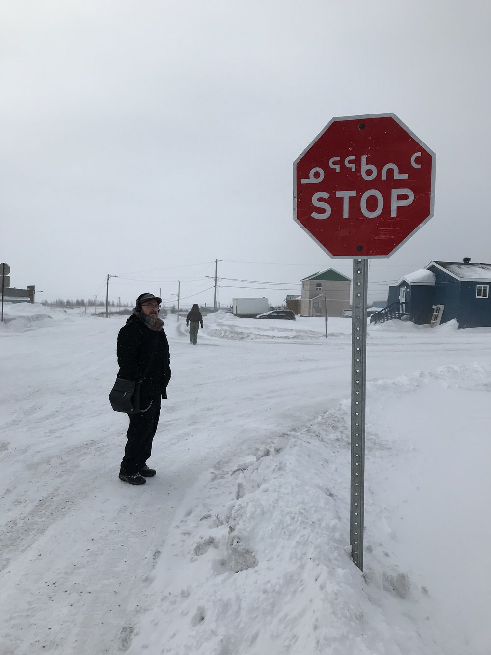 Stop Sign with Inuktitut!