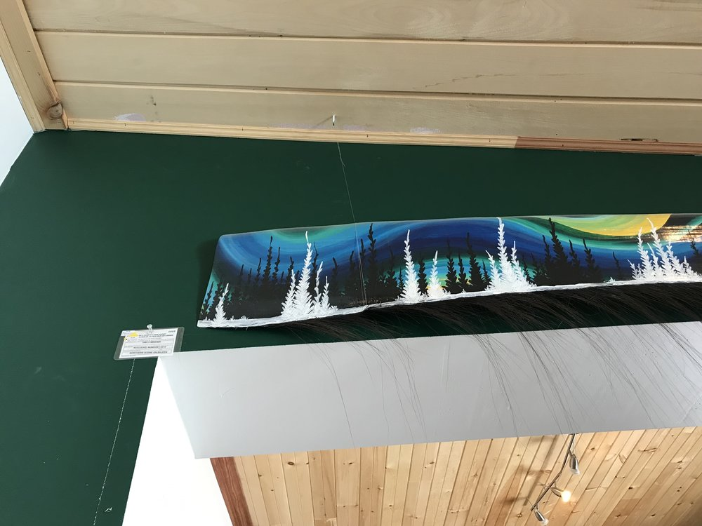 Baleen (afilter-feedersystem inside themouthsofbaleen whales) made into art