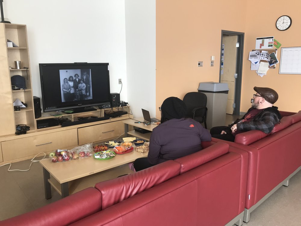 Maina watches some short films for inspiration