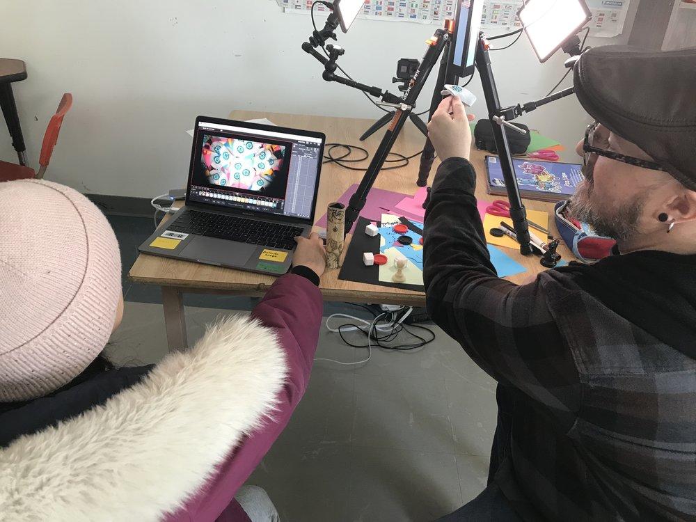 Glenn shows off the Kalaidescope Animation