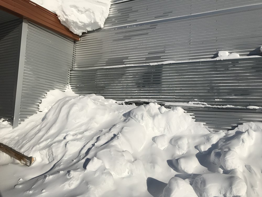 Check out the snow drifts!