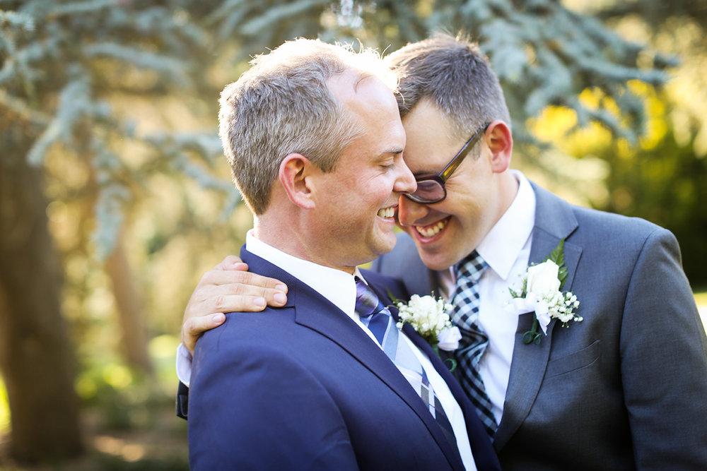 Seattle Gay Wedding groom and groom