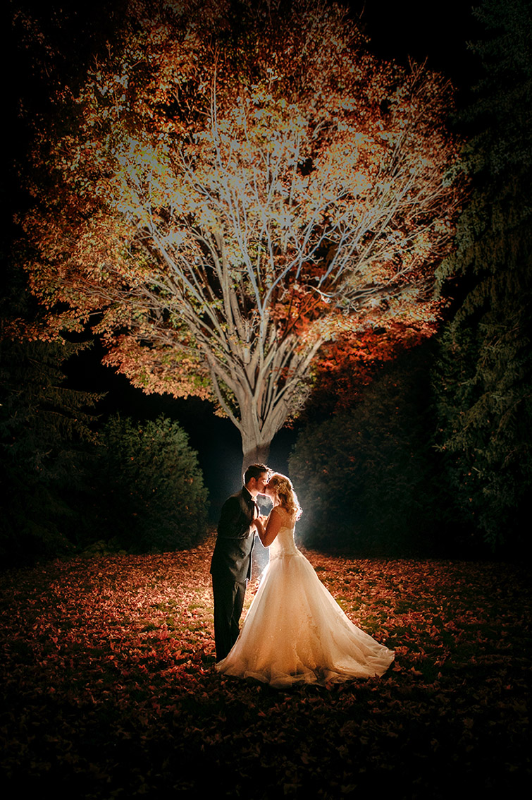 Seattle Wedding Autumn Bride and Groom