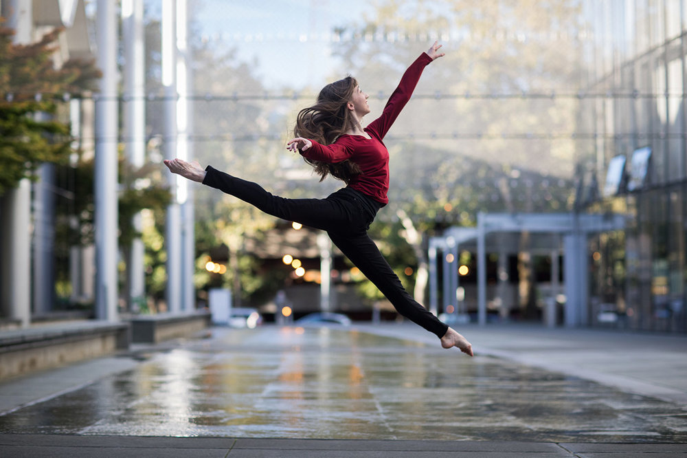 Senior Picture Dancer Leaping