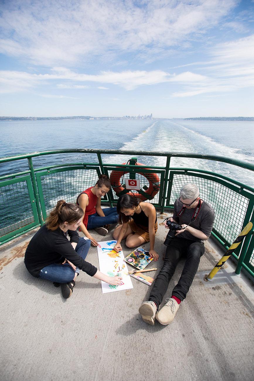 Bainbridge Ferry Boat Art