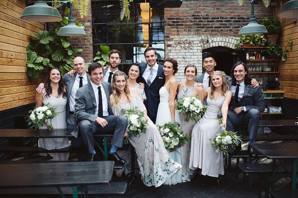 Seattle Wedding Bridal Party at Percy's Ballard