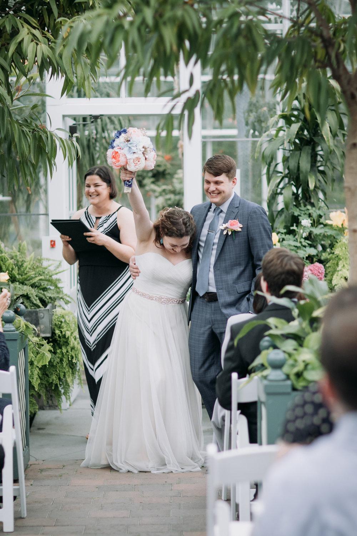 Volunteer Park Conservatory Wedding Ceremony