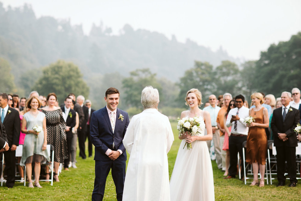Golden Gardens Park Wedding Ceremony