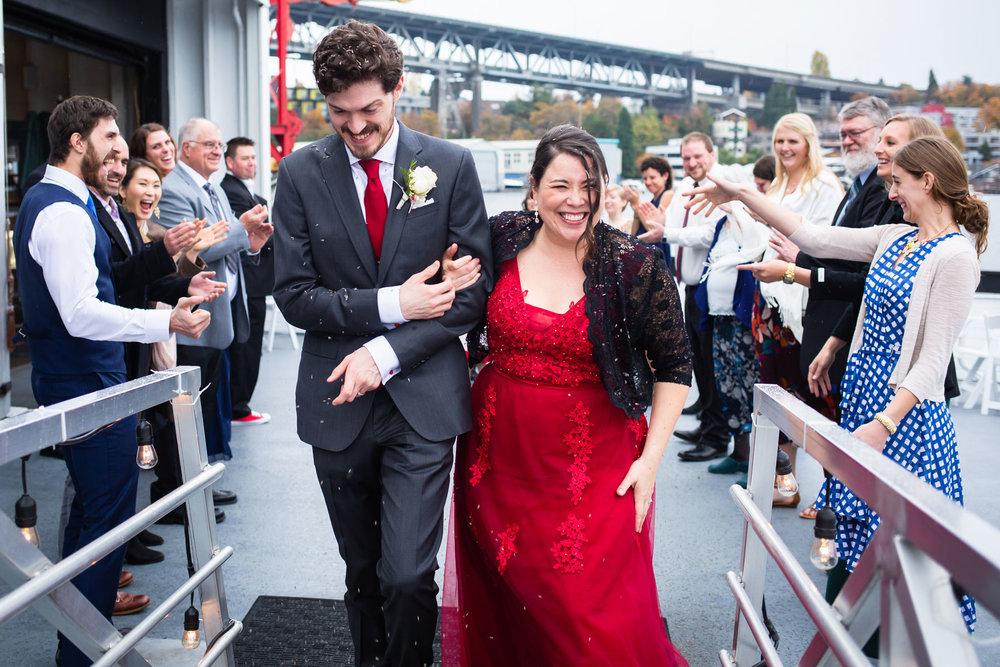 Seattle Wedding Reception on Skansonia