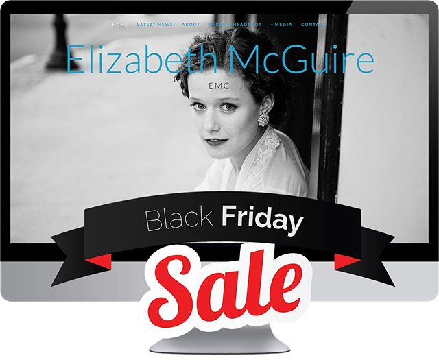 Guess what?! We're having a BLACK FRIDAY SALE 🎉 Receive 10% when you book your website between Nov. 22-24th! But don't worry - you don't have to start immediately! Dates will begin on or after Dec. 1st and book through 2018. ONLY TWO SLOTS per month. Jump ahead for audition season!
