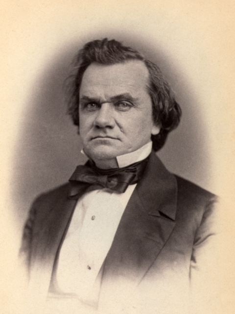 Stephen A. Douglas in 1859.   Photo Courtesy Library of Congress.