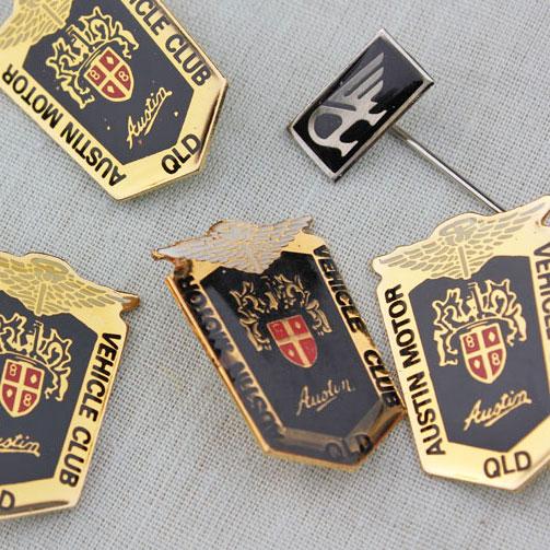 Club Logo Metal Lapel Badges $3.50