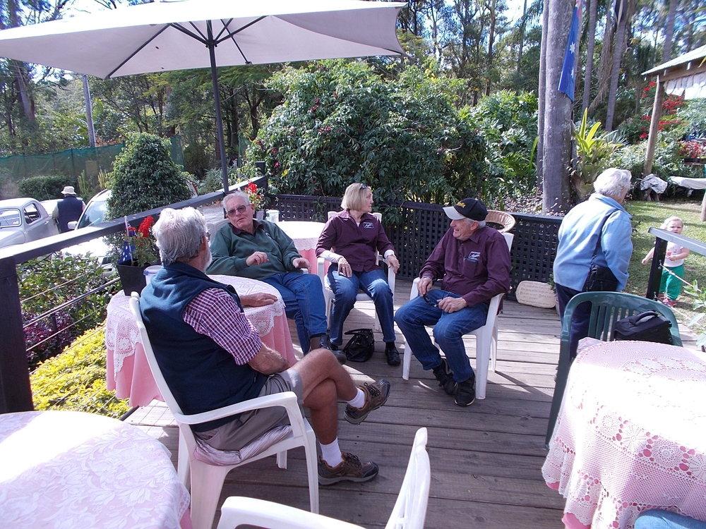 Some of the Austineers enjoying Morning tea.