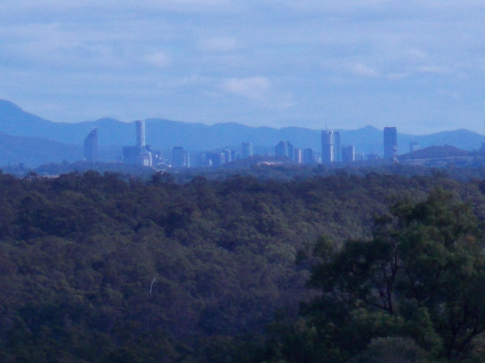 View of Brisbane City from the Mt Cotton nursery and cafe.  OK I used telephoto.