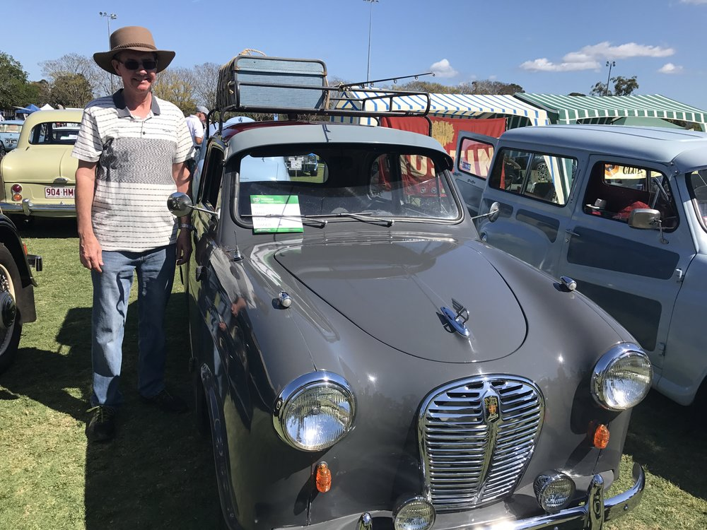 Rob with his beloved A30 at All British 2018
