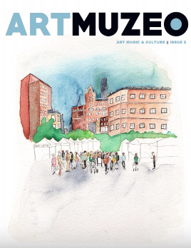 cover of  Art Muzeo Magazine,  March 2017