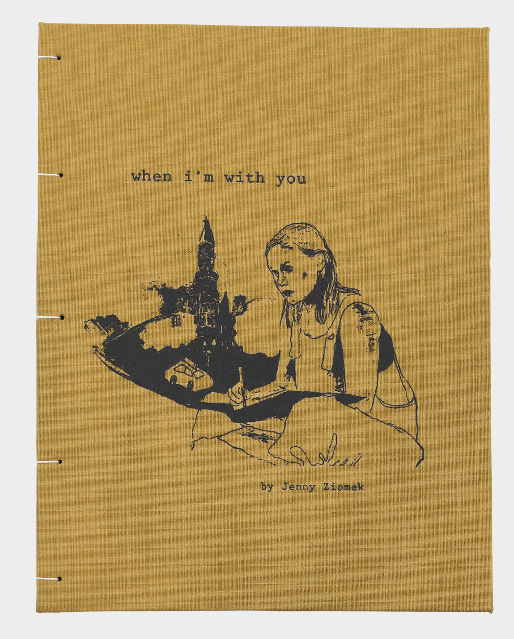 When I'm With You - a mixed media graphic novel about love, New York, and the unreliability and absurdity of memoryartist book in an edition of 70 copies, 6.5