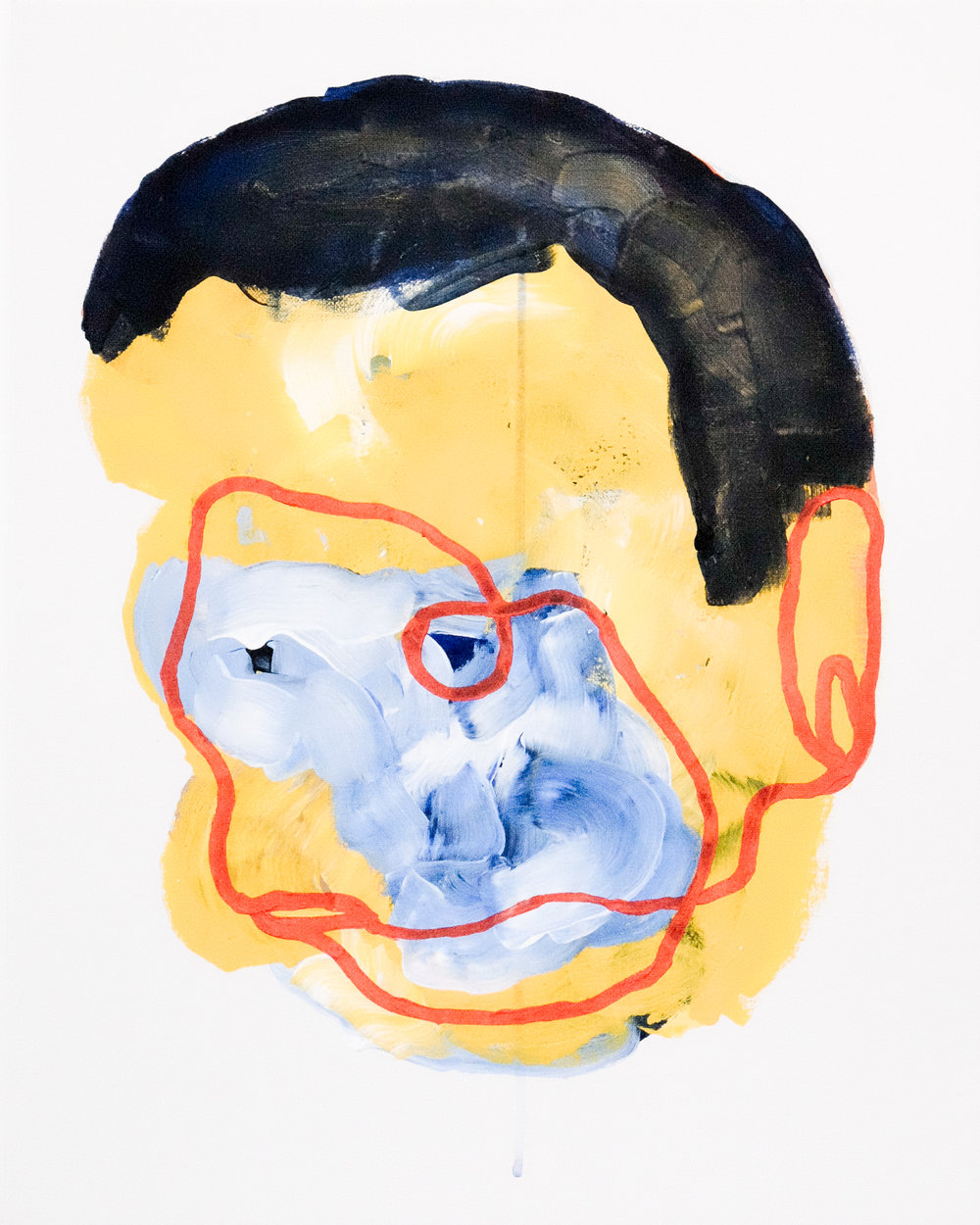 Self portrait no. 3,2017, acrylic on canvas, 405mm x 510mm.