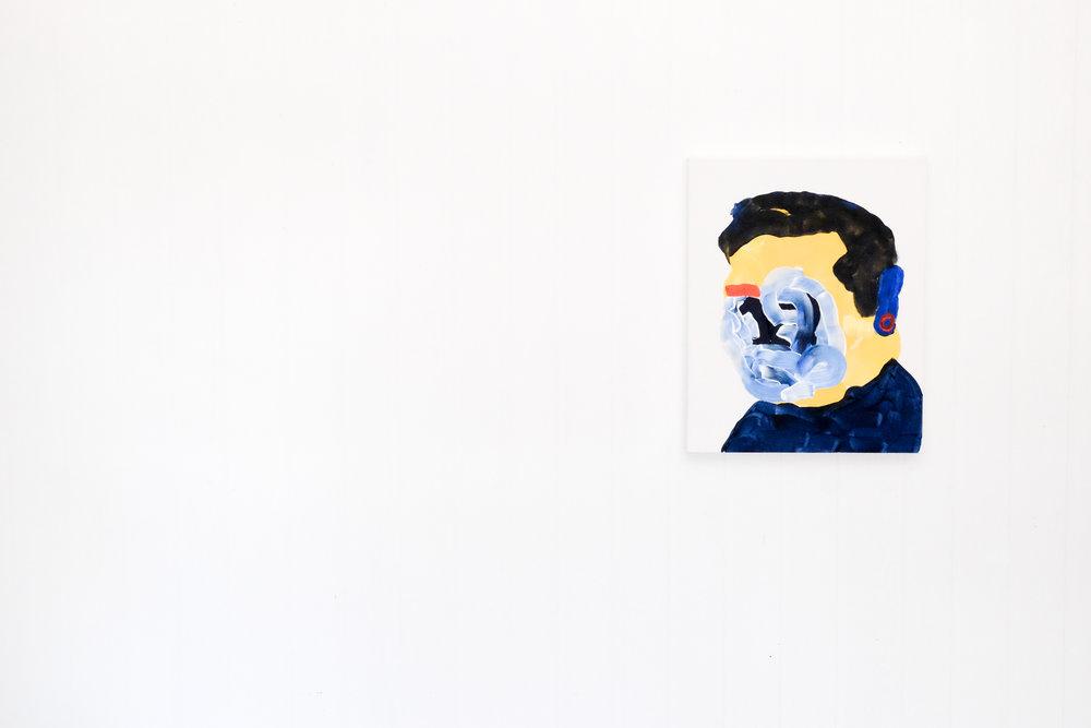Self portrait no. 2,2017, acrylic on canvas, 405mm x 510mm.
