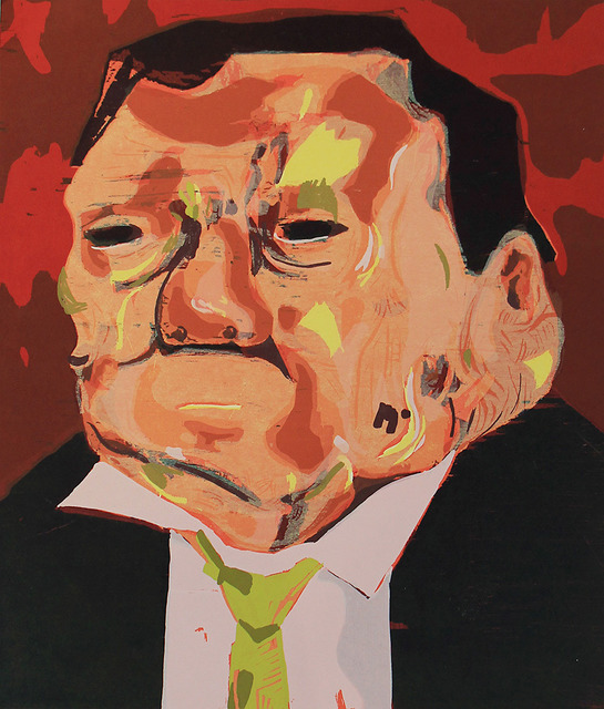 I like how Schutz has simplified the features of this portrait .