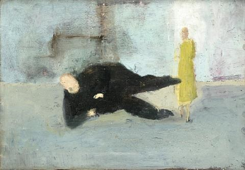 Michael Sketch, for A Man Who Suddenly Fell Over , ca. 1952
