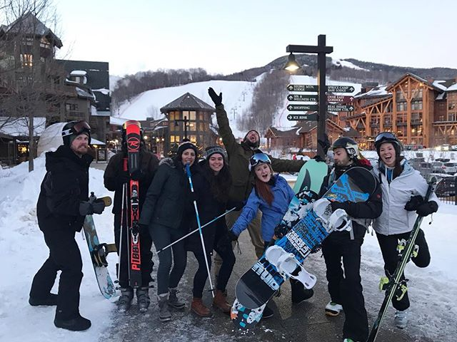 Stoked in Stowe ❄️