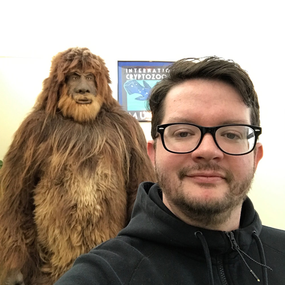 Producer Matt Ralston on site at the International Cryptozoology Museum.